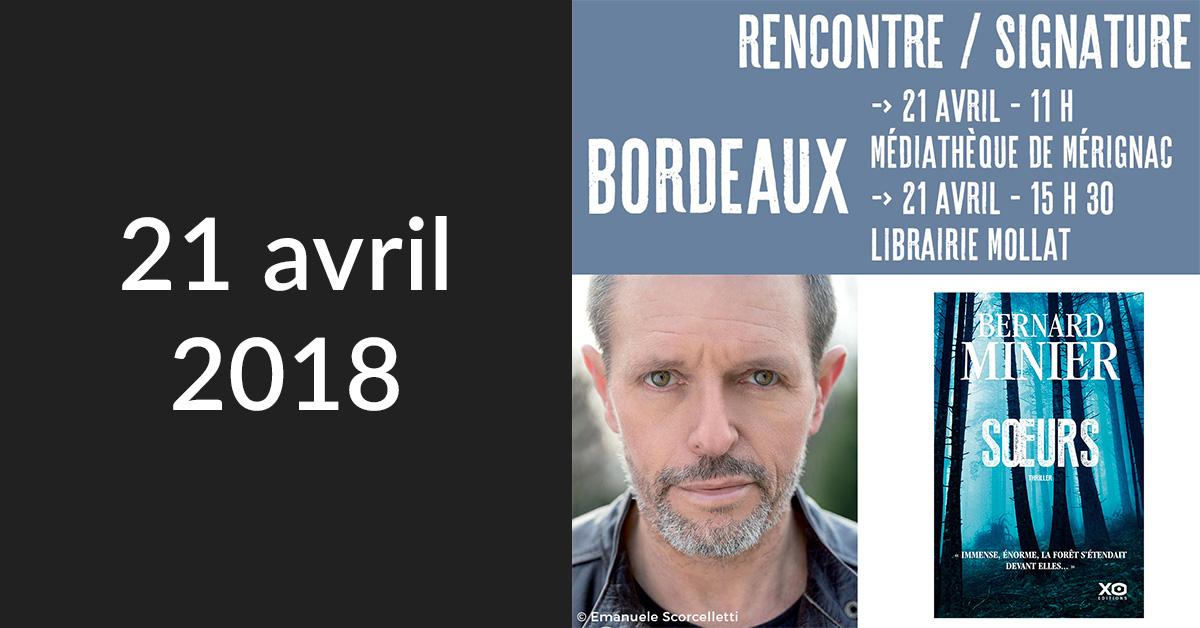 Rencontre/Signature à Bordeaux (Librairie Mollat)