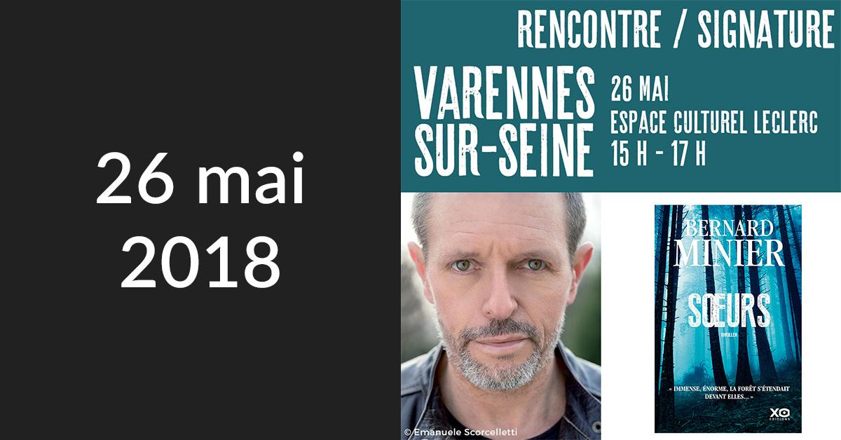 Rencontre/Signature à Varennes sur Seine (Espace Culturel E. Leclerc)
