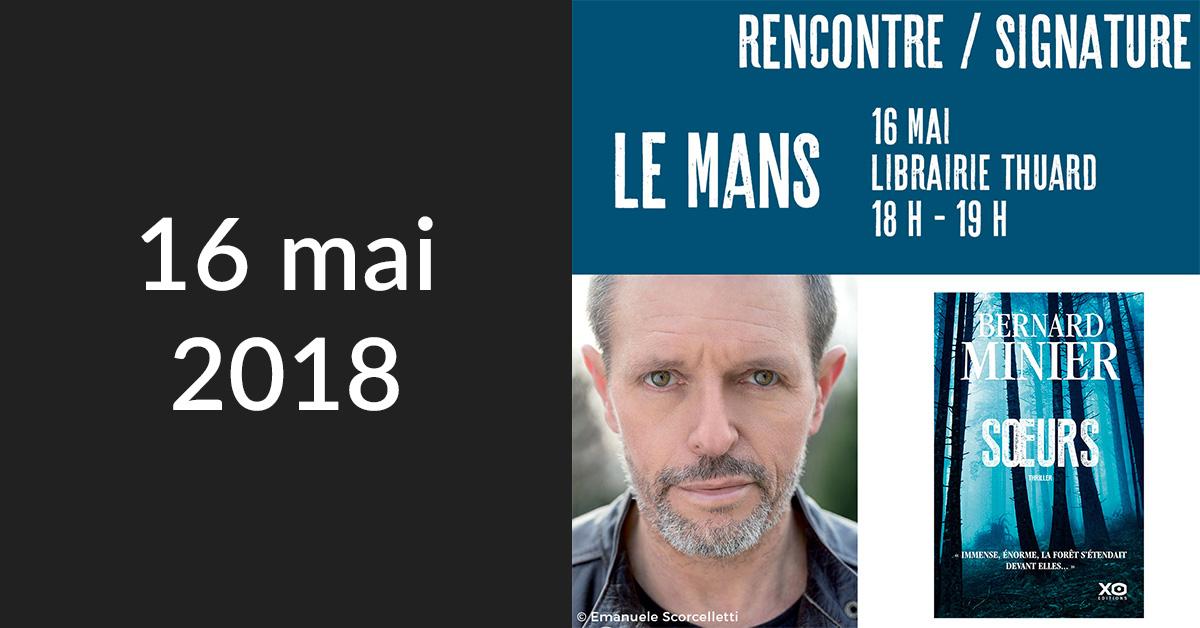 Rencontre/Signature au Mans (Librairie Thuard)