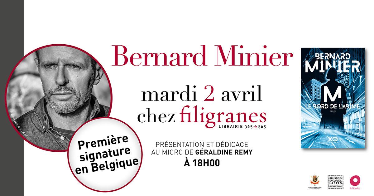 RENCONTRE AVEC BERNARD MINIER À LA LIBRAIRIE FILIGRANES