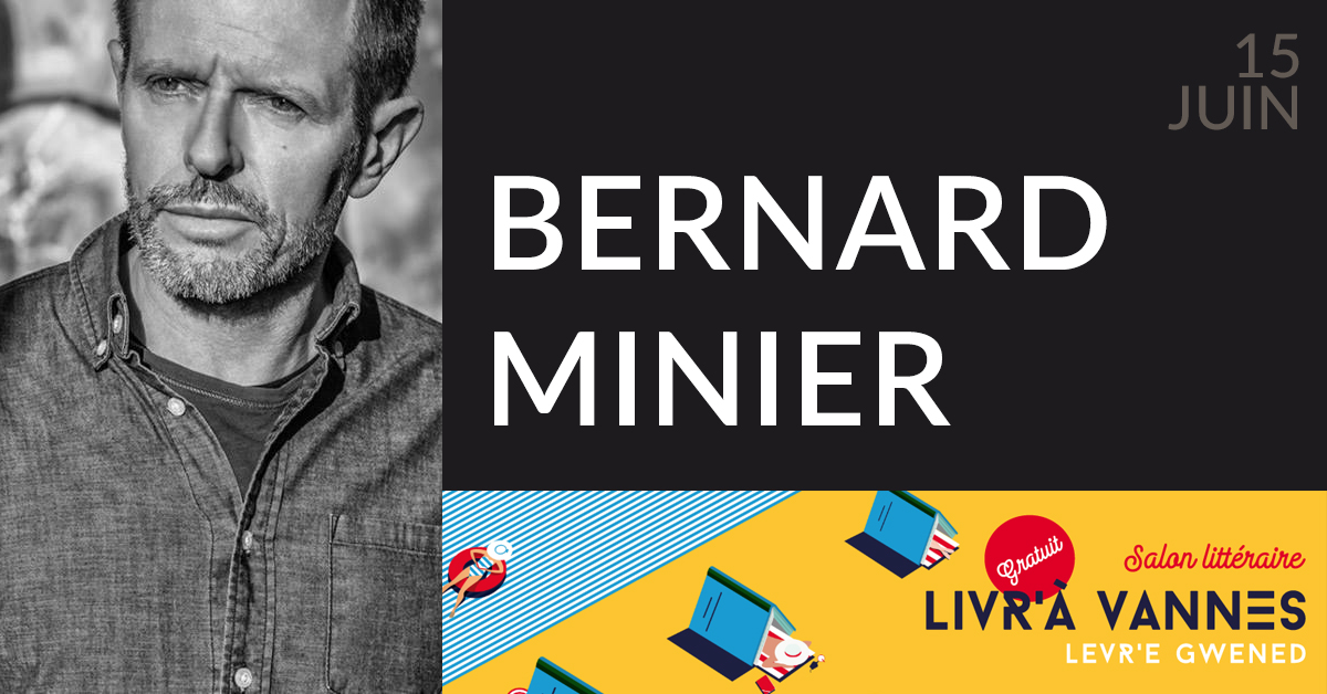 BERNARD MINIER AU SALON LIVR'À VANNES